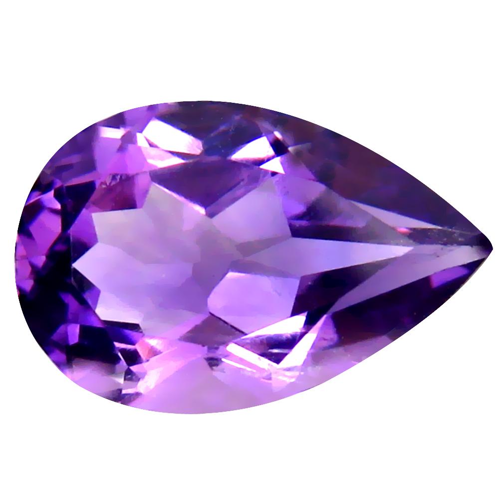 4.93 ct Lovely Pear (15 x 10 mm) Un-Heated Uruguay Purple Amethyst Loose Gemstone