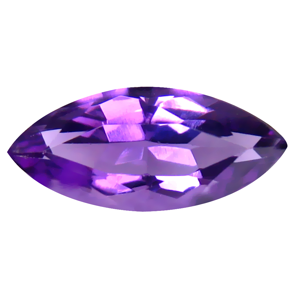 3.29 ct Pleasant Marquise (16 x 7 mm) Un-Heated Uruguay Purple Amethyst Loose Gemstone