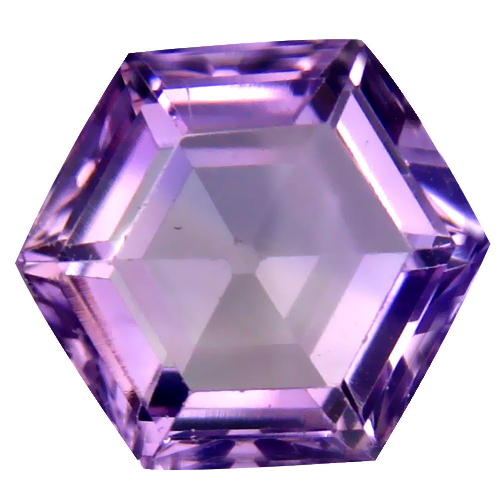 8.98 ct Amazing Fancy (14 x 13 mm) Un-Heated Uruguay Purple Amethyst Loose Gemstone