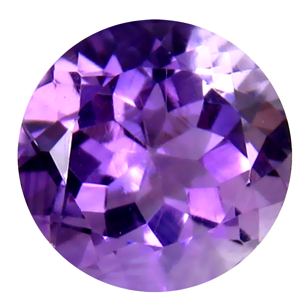 3.95 ct Romantic Round (10 x 10 mm) Un-Heated Uruguay Purple Amethyst Loose Gemstone