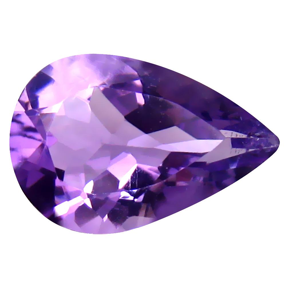 4.34 ct Superb Pear (15 x 10 mm) Un-Heated Uruguay Purple Amethyst Loose Gemstone