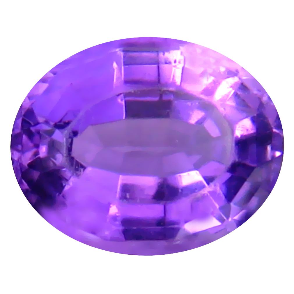 2.80 ct Stunning Oval (10 x 8 mm) Un-Heated Uruguay Purple Amethyst Loose Gemstone