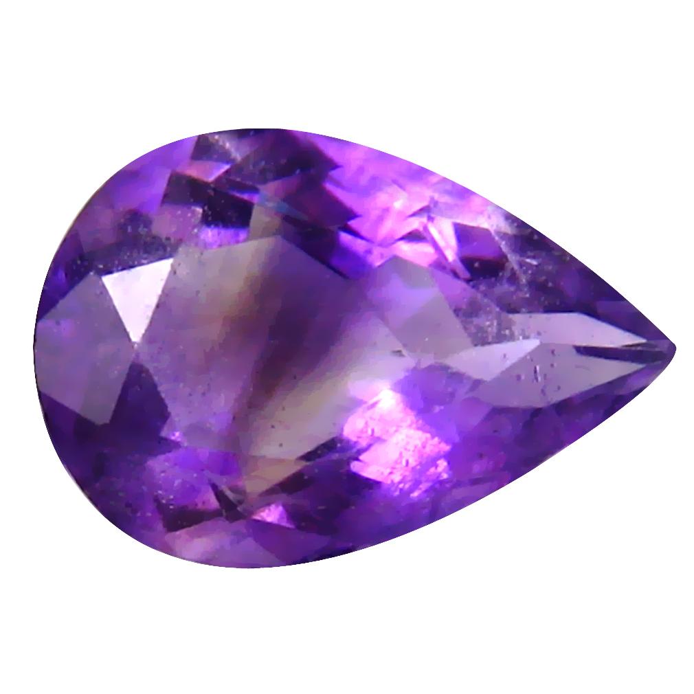 2.62 ct Gorgeous Pear (12 x 8 mm) Un-Heated Uruguay Purple Amethyst Loose Gemstone