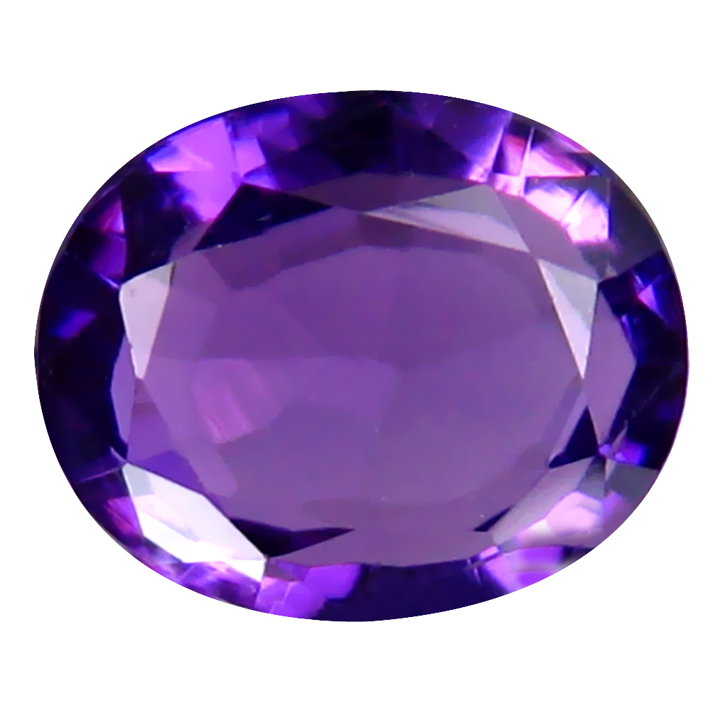 2.23 ct Shimmering Oval (9 x 7 mm) Un-Heated Uruguay Purple Amethyst Loose Gemstone