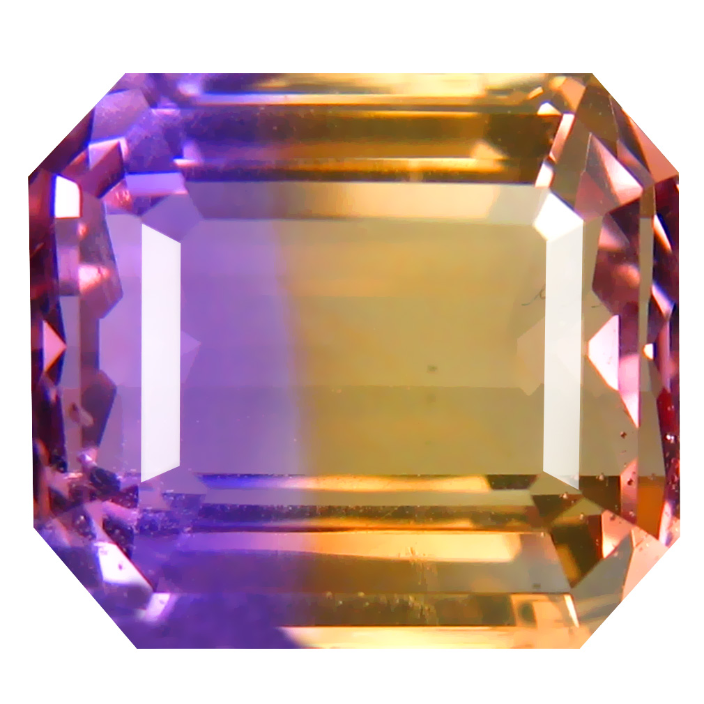 9.04 ct Wonderful Octagon Cut (13 x 11 mm) Unheated / Untreated Purple and Yellow Ametrine Natural Gemstone