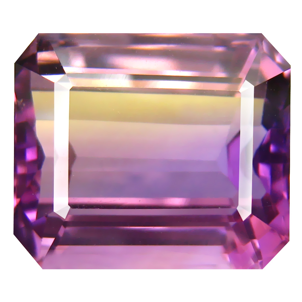 11.15 ct Beautiful Octagon Cut (14 x 12 mm) Unheated / Untreated Purple and Yellow Ametrine Natural Gemstone