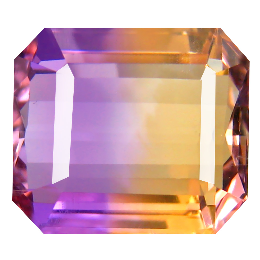 9.12 ct Mesmerizing Octagon Cut (13 x 11 mm) Unheated / Untreated Purple and Yellow Ametrine Natural Gemstone