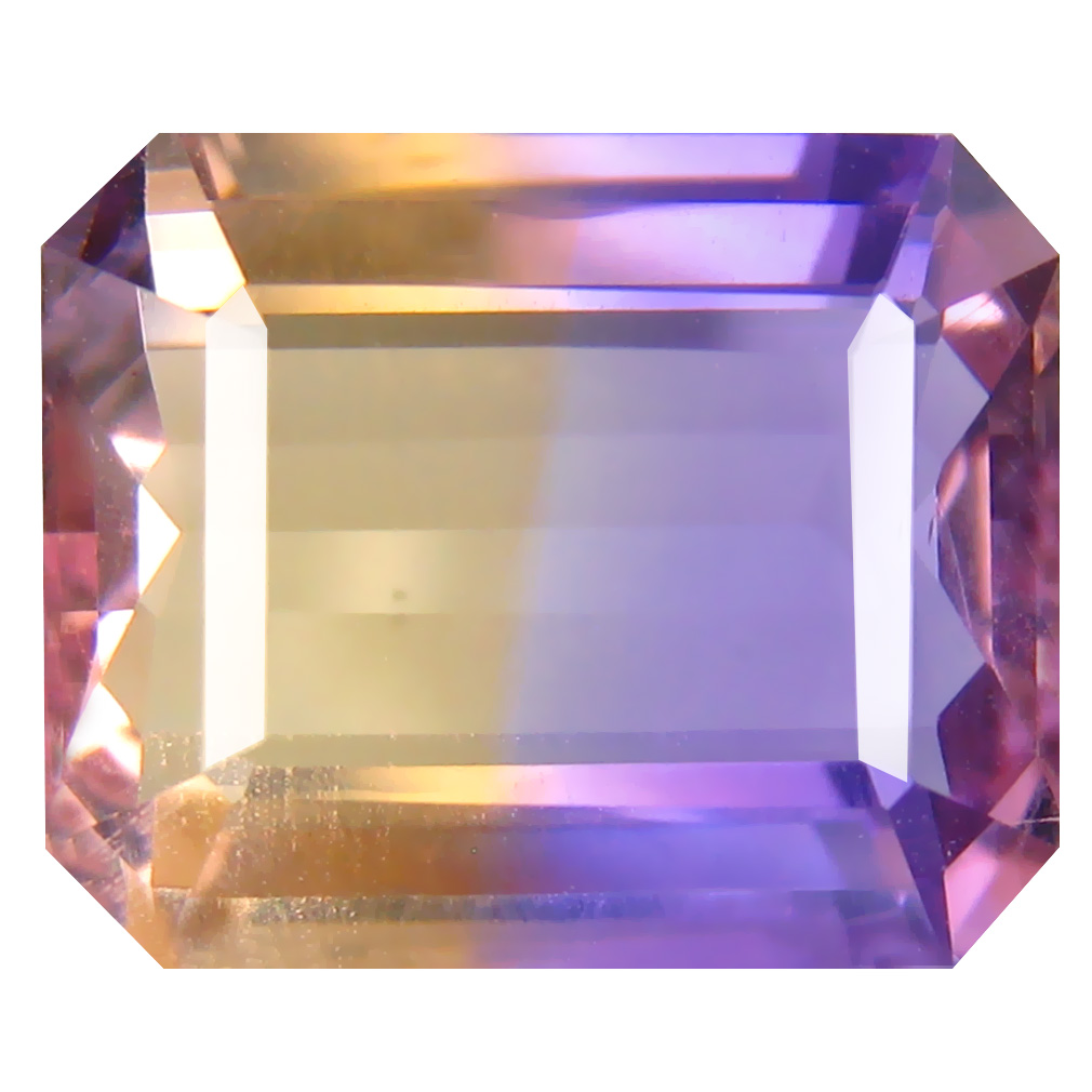 6.99 ct Romantic Octagon Cut (13 x 11 mm) Unheated / Untreated Purple and Yellow Ametrine Natural Gemstone