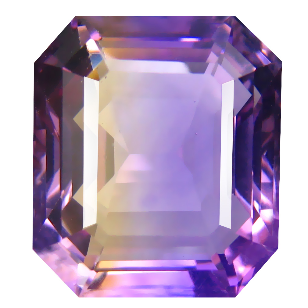 10.10 ct Incomparable Octagon Cut (14 x 12 mm) Unheated / Untreated Purple and Yellow Ametrine Natural Gemstone