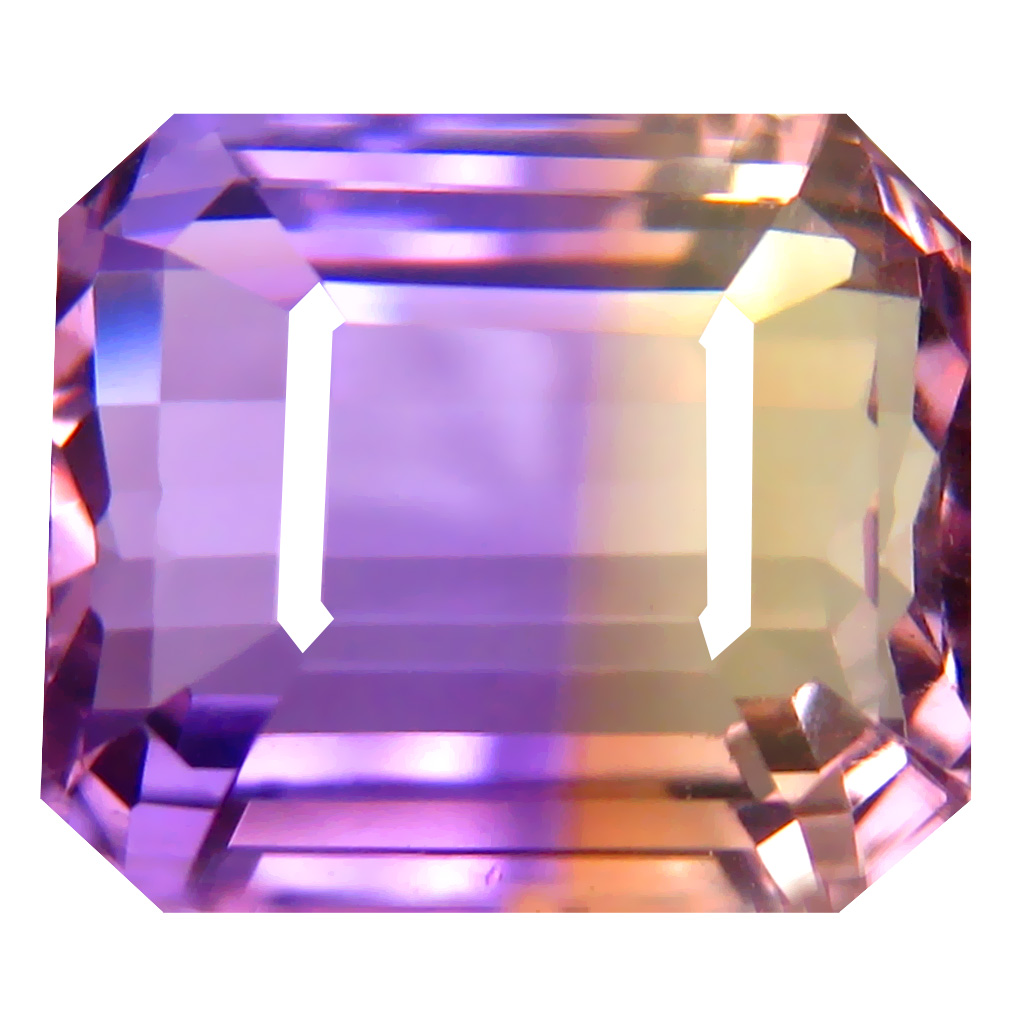 9.46 ct Best Octagon Cut (12 x 11 mm) Unheated / Untreated Purple and Yellow Ametrine Natural Gemstone