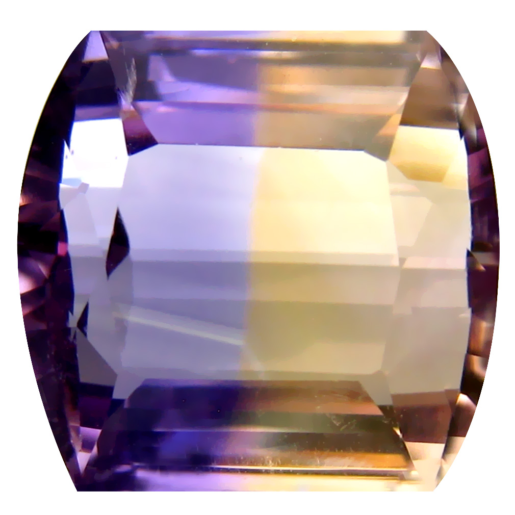 9.75 ct Lovely Fancy Cut (13 x 13 mm) Unheated / Untreated Purple and Yellow Ametrine Natural Gemstone