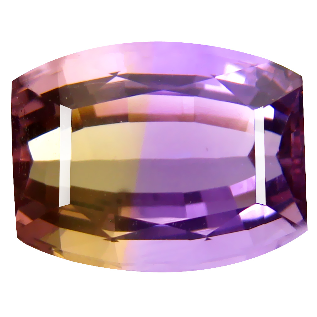 9.83 ct First-class Fancy Cut (14 x 11 mm) Unheated / Untreated Purple and Yellow Ametrine Natural Gemstone