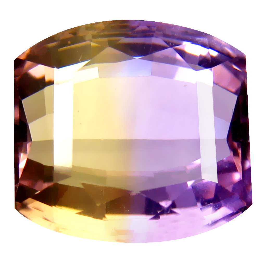 9.49 ct Spectacular Fancy Cut (13 x 12 mm) Unheated / Untreated Purple and Yellow Ametrine Natural Gemstone