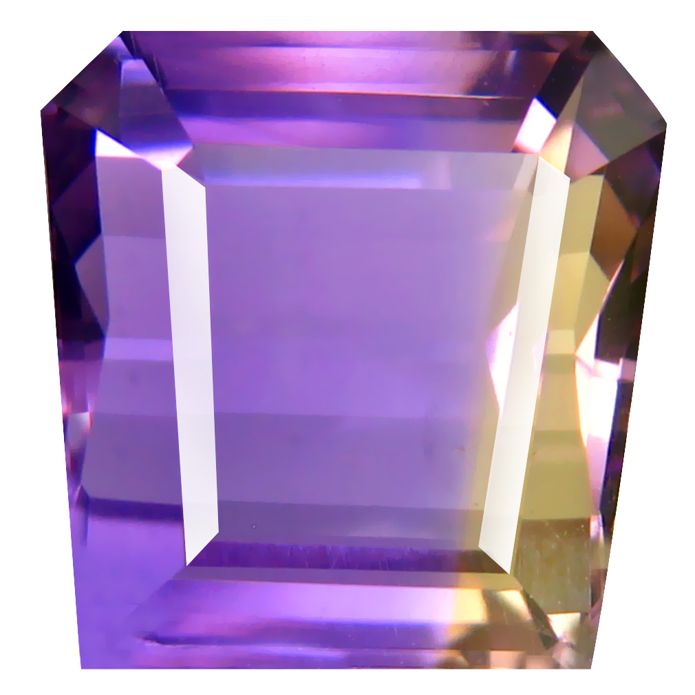 7.81 ct Sparkling Fancy Cut (12 x 11 mm) Unheated / Untreated Purple and Yellow Ametrine Natural Gemstone