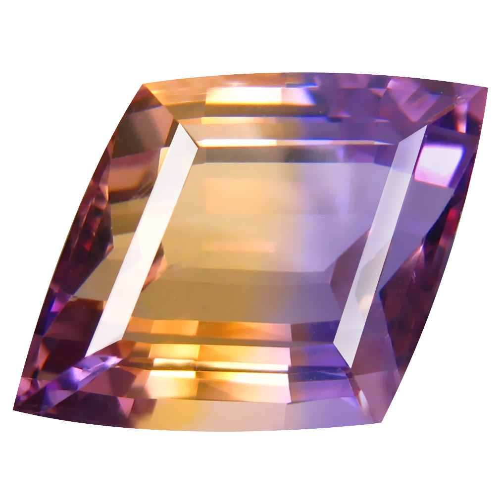 11.07 ct Stunning Fancy Cut (19 x 14 mm) Unheated / Untreated Purple and Yellow Ametrine Natural Gemstone