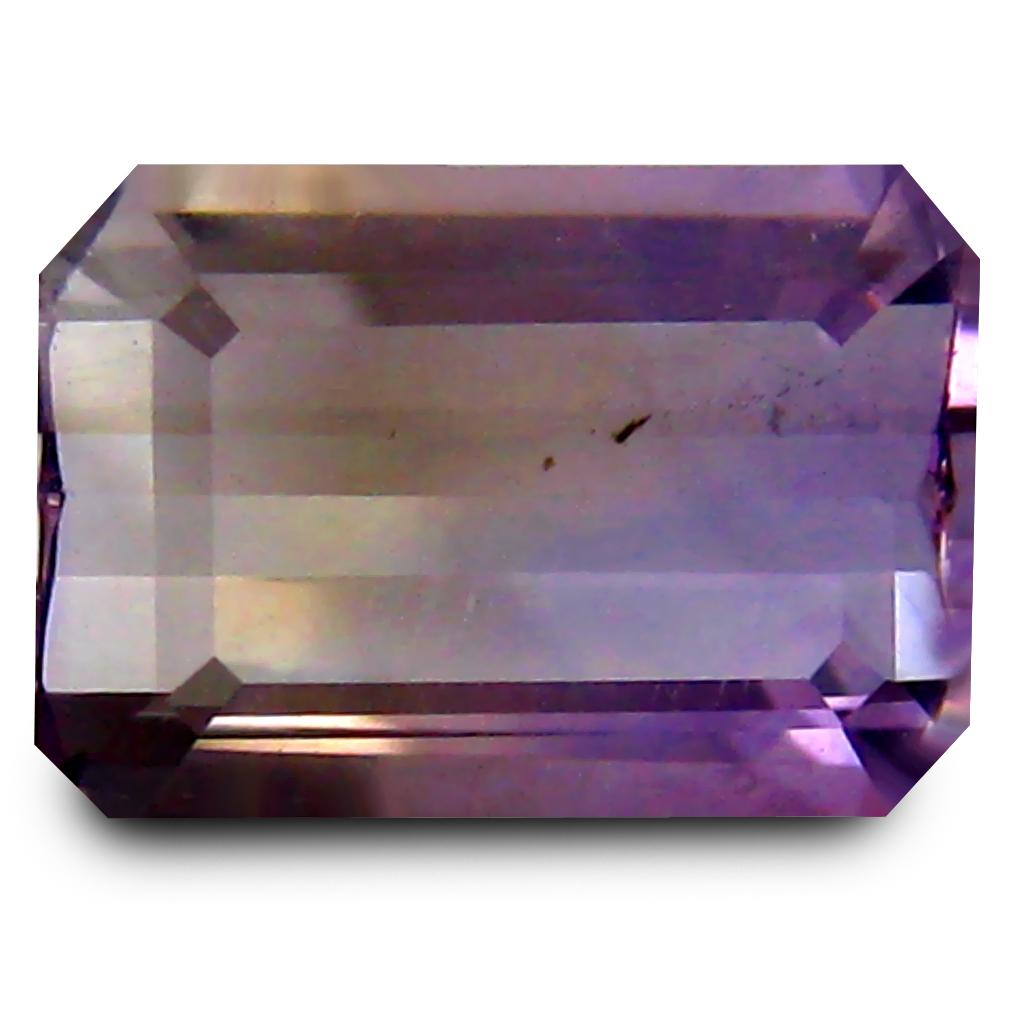 2.44 ct AAA Good-looking Octagon Shape (11 x 7 mm) Purple and Yellow Ametrine Natural Gemstone