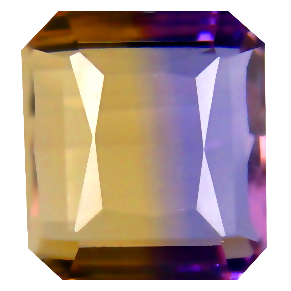 7.24 ct AAA+ Spectacular Octagon Shape (11 x 10 mm) Purple and Yellow Ametrine Natural Gemstone