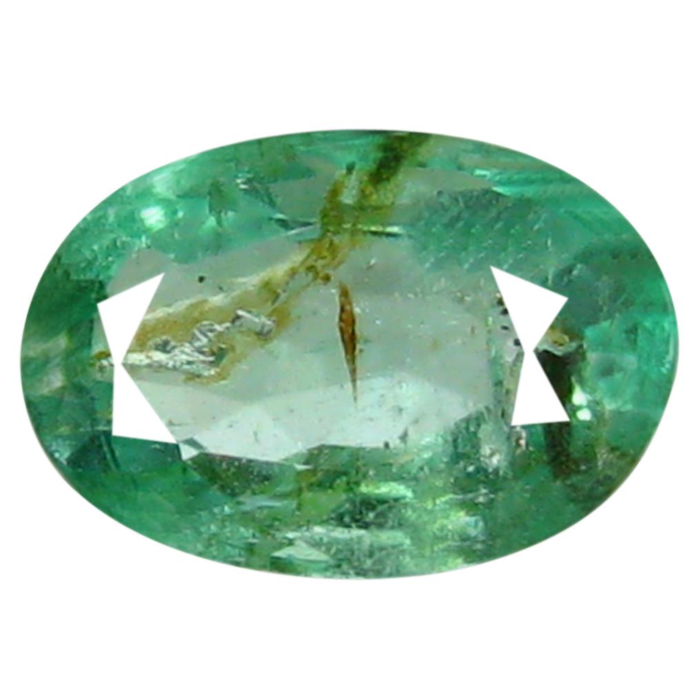 0.50 ct Fantastic Oval Cut (6 x 4 mm) Green 100% Natural (Un-Heated) Emerald Natural Gemstone
