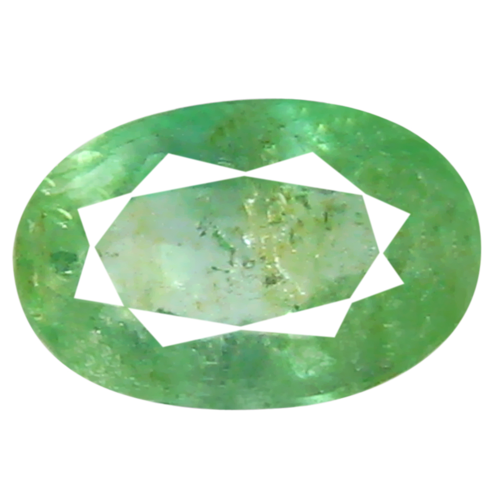 0.44 ct Impressive Oval Cut (6 x 4 mm) Green 100% Natural (Un-Heated) Emerald Natural Gemstone