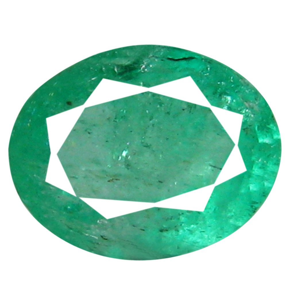 0.56 ct Phenomenal Oval Cut (6 x 5 mm) Green 100% Natural (Un-Heated) Emerald Natural Gemstone