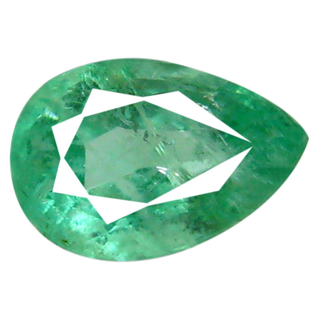 0.52 ct Attractive Pear Cut (6 x 4 mm) Green 100% Natural (Un-Heated) Emerald Natural Gemstone