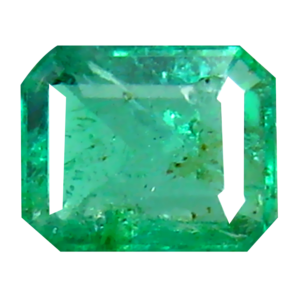 0.41 ct Phenomenal Octagon Cut (5 x 4 mm) Colombian Emerald Natural Gemstone