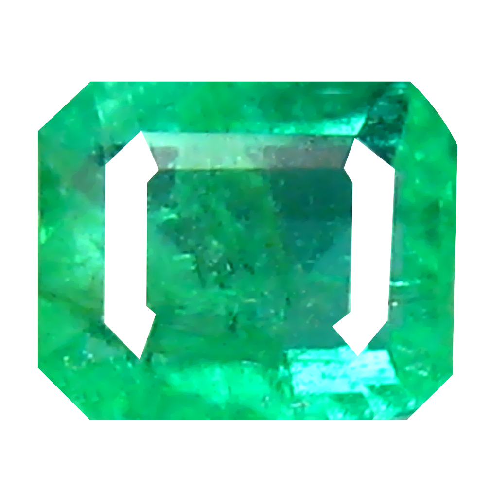 0.31 ct Very good Octagon Cut (5 x 4 mm) Colombian Emerald Natural Gemstone