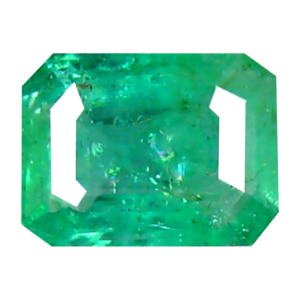 0.47 ct Unbelievable Octagon Cut (5 x 4 mm) Colombian Emerald Natural Gemstone