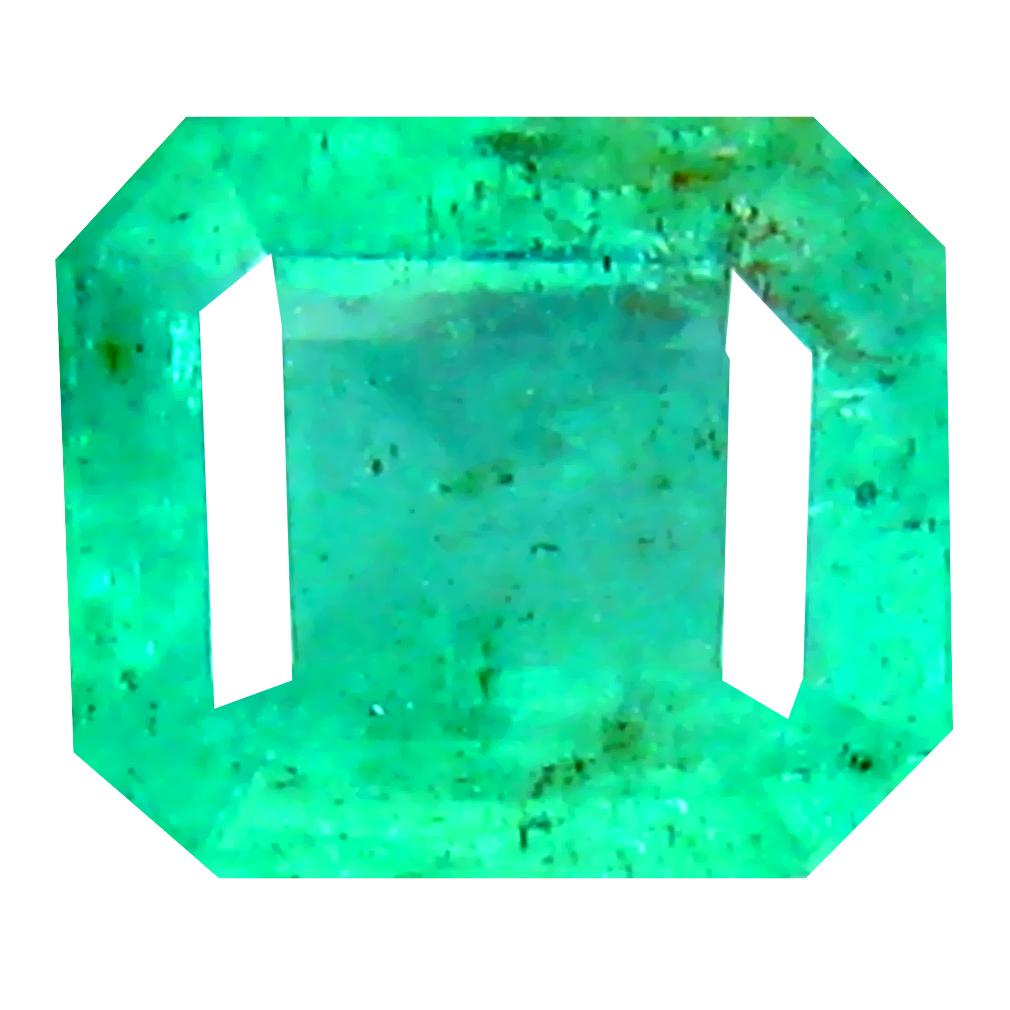 0.62 ct Romantic Octagon Cut (5 x 5 mm) Colombian Emerald Natural Gemstone