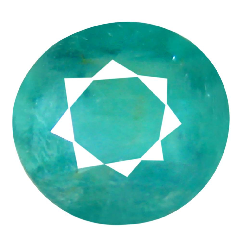 0.79 ct Magnificent Oval Cut (6 x 6 mm) Unheated / Untreated Greenish Blue Grandidierite Natural Gemstone
