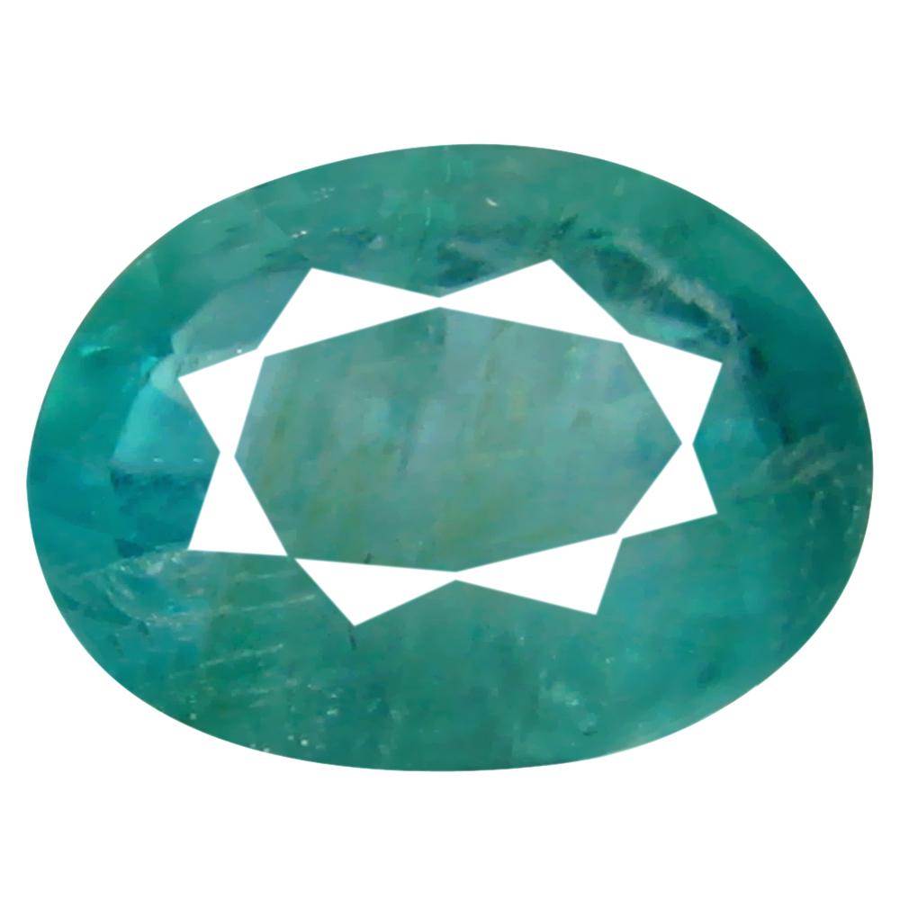 0.64 ct Fair Oval Cut (6 x 5 mm) Unheated / Untreated Greenish Blue Grandidierite Natural Gemstone