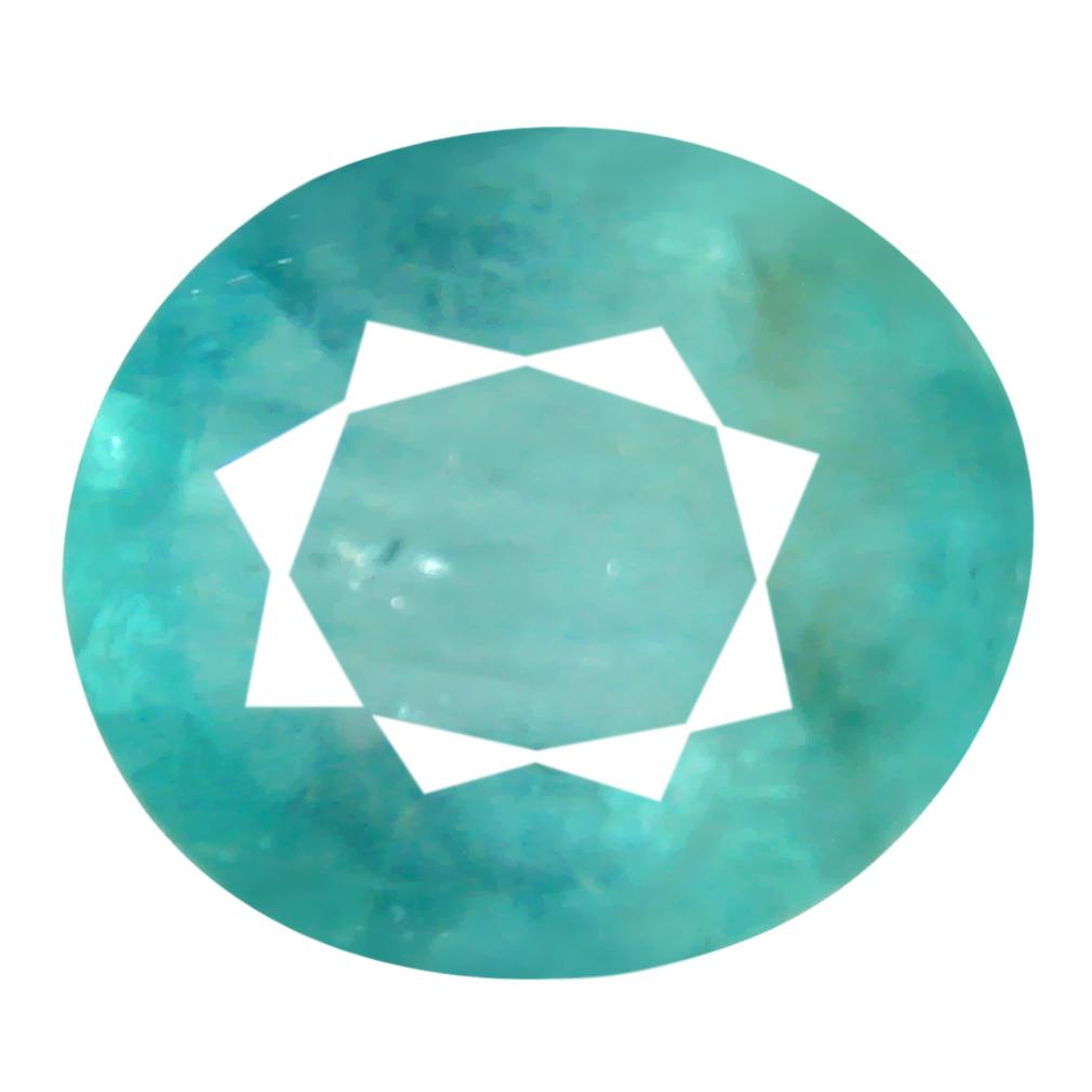 1.03 ct Topnotch Oval Cut (7 x 6 mm) Unheated / Untreated Greenish Blue Grandidierite Natural Gemstone