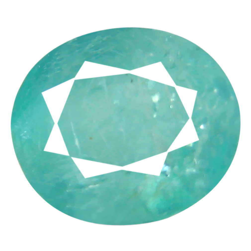 1.42 ct Shimmering Oval Cut (8 x 7 mm) Unheated / Untreated Greenish Blue Grandidierite Natural Gemstone