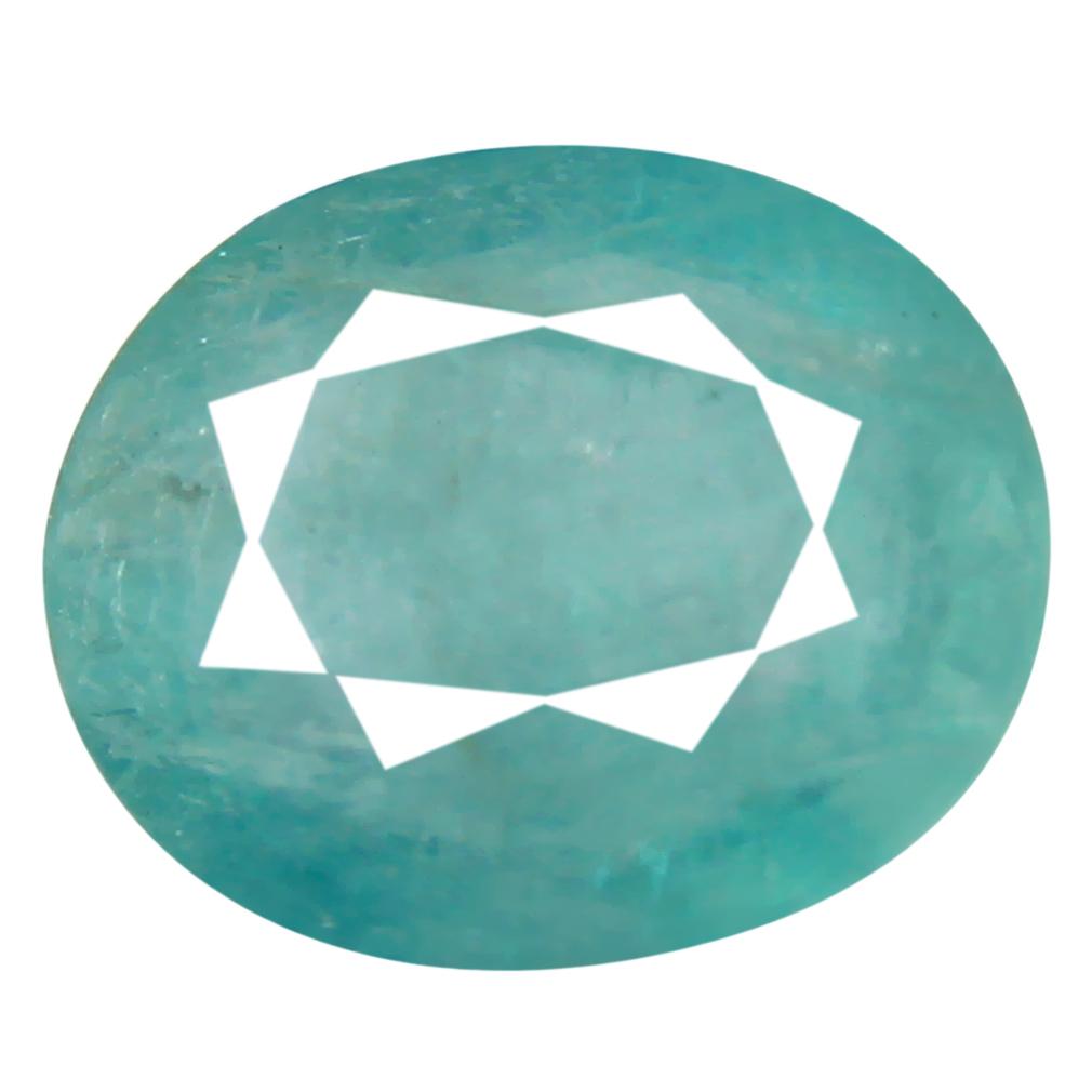 1.14 ct Superior Oval Cut (8 x 7 mm) Unheated / Untreated Greenish Blue Grandidierite Natural Gemstone