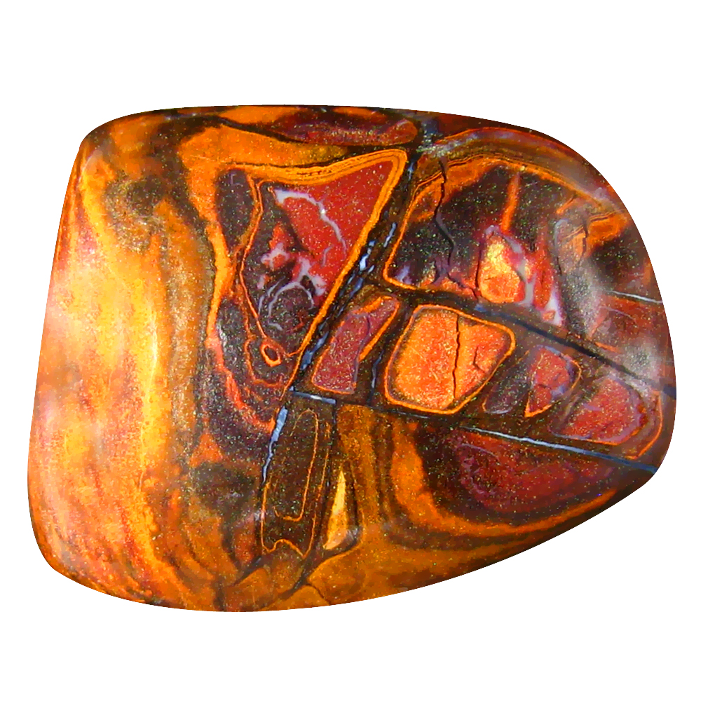 15.50 ct Spectacular Fancy Cabochon Shape (20 x 16 mm) Play of Colors Australian Koroit Boulder Opal Natural Loose Gemstone