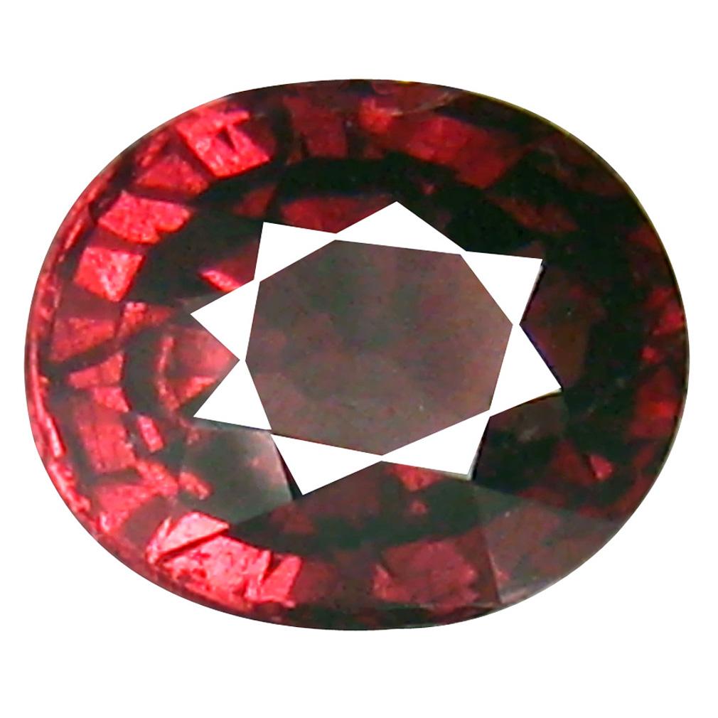 1.57 ct Incredible Oval Cut (7 x 6 mm) Tanzania Pink Malaya Garnet Natural Gemstone