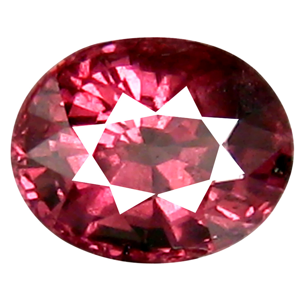 0.94 ct Fantastic Oval Cut (6 x 5 mm) Tanzania Pink Malaya Garnet Natural Gemstone