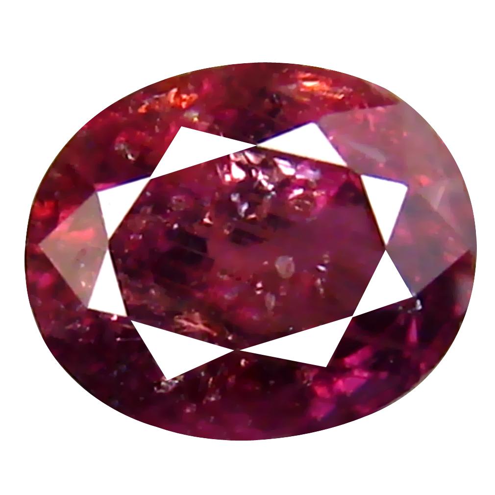 1.00 ct Grand looking Oval Cut (6 x 5 mm) Un-Heated Reddish Pink Sapphire Natural Gemstone