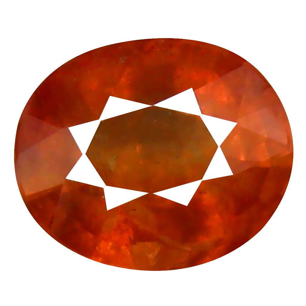 1.15 ct Shimmering Oval Cut (7 x 5 mm) Un-Heated Orange Sapphire Natural Gemstone