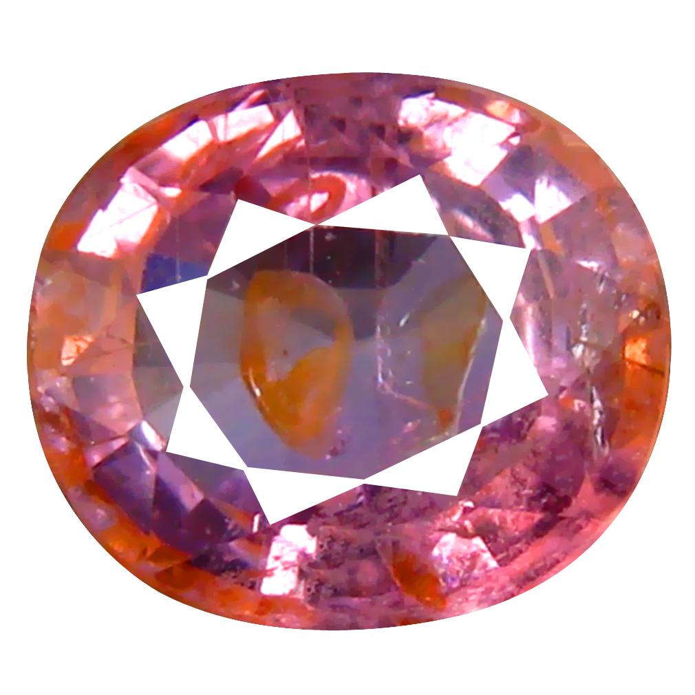 2.09 ct First-class Oval Cut (8 x 7 mm) Un-Heated Purplish Pink Sapphire Natural Gemstone