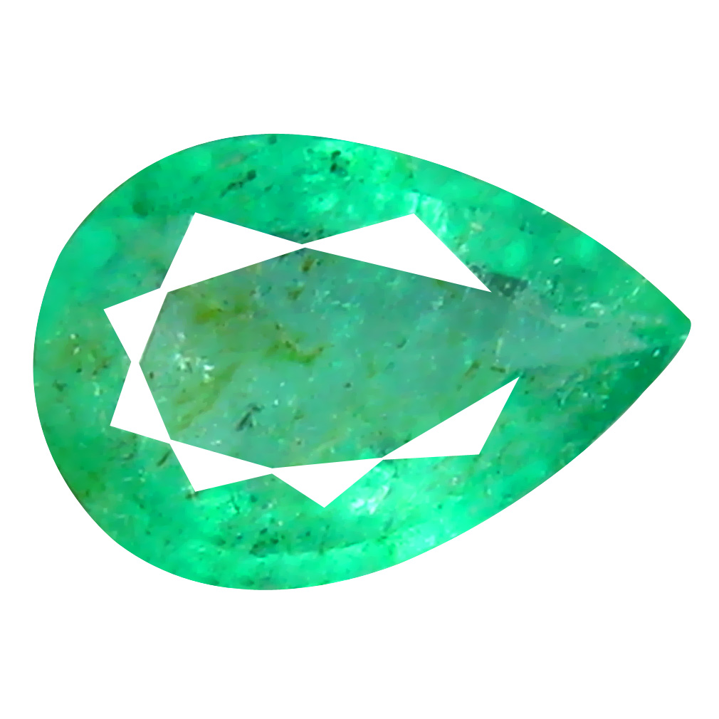 0.30 ct Topnotch Pear Cut (6 x 4 mm) Colombian Emerald Natural Gemstone