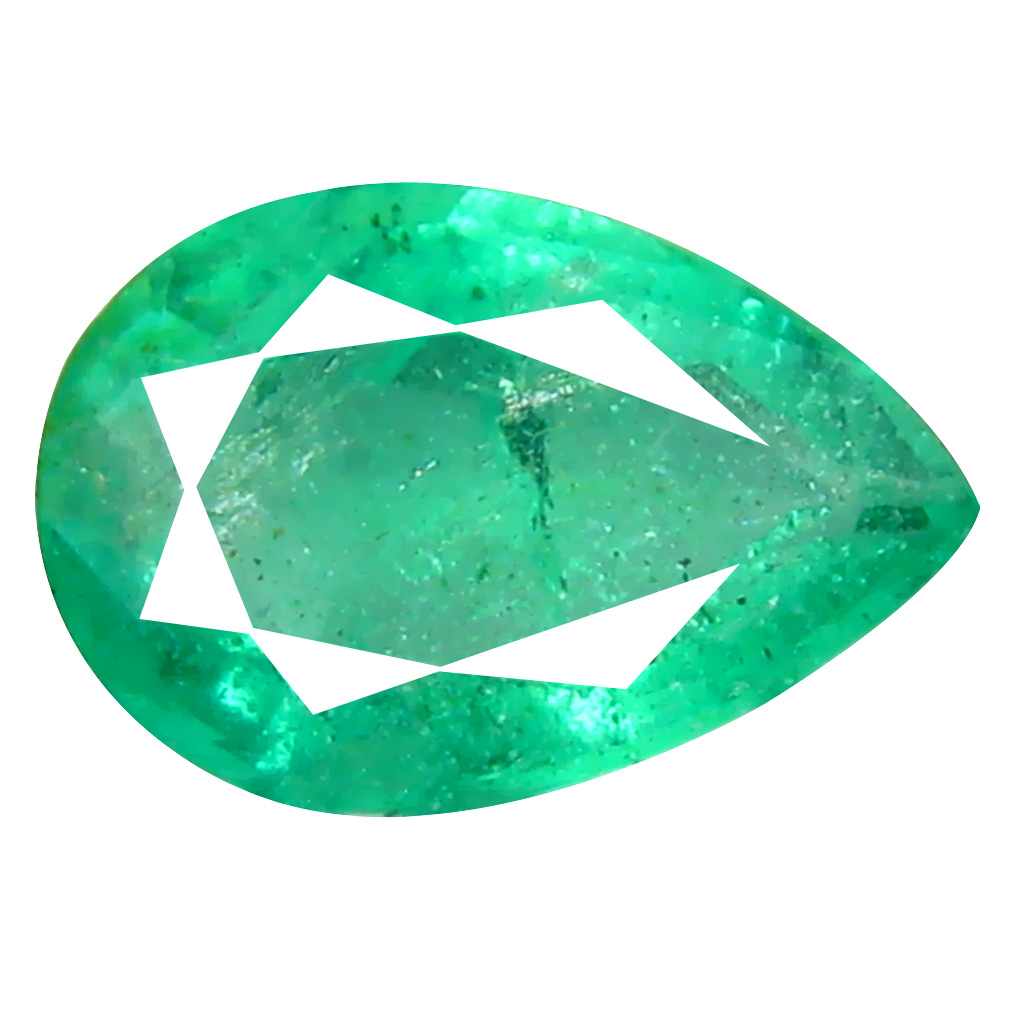 0.55 ct Incredible Pear Cut (7 x 5 mm) Colombian Emerald Natural Gemstone