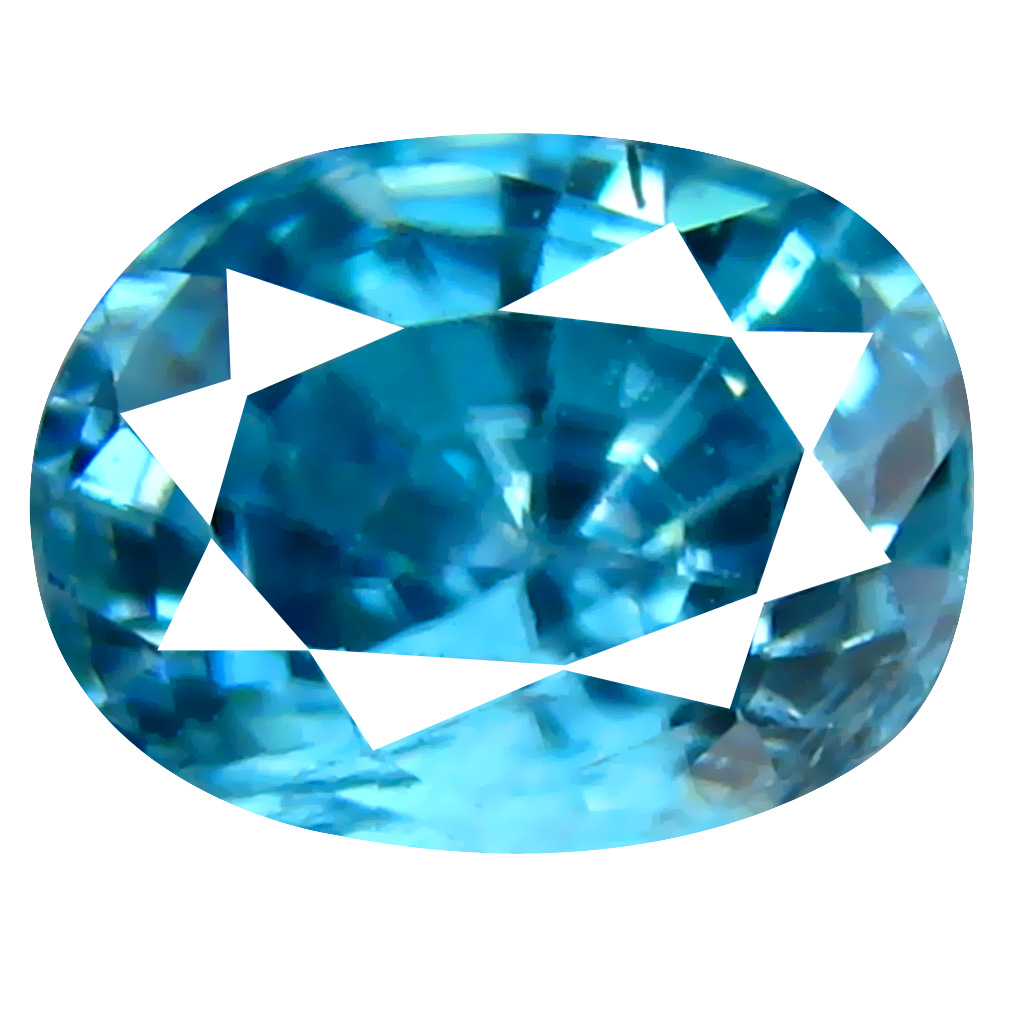 2.32 ct Significant Oval Cut (8 x 6 mm) Cambodian Blue Zircon Natural Loose Gemstone