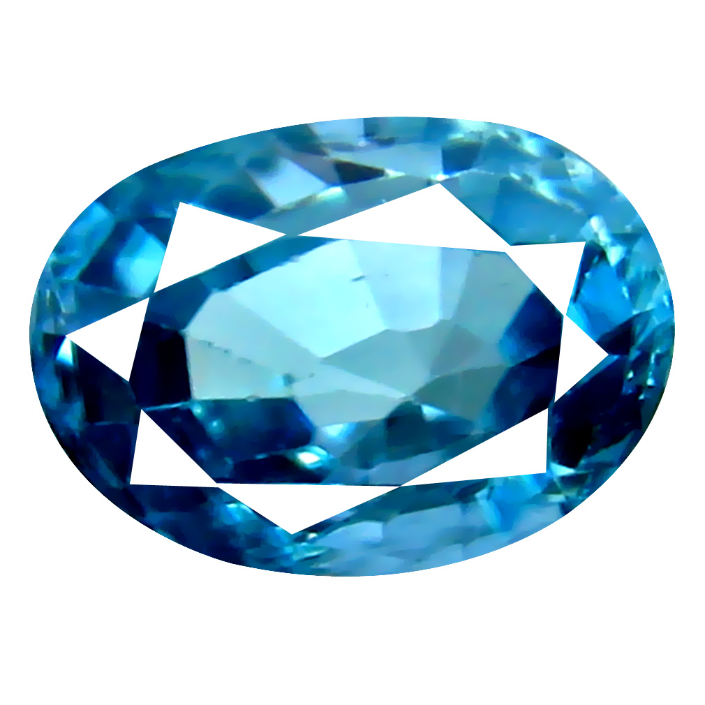 2.15 ct Eye-opening Oval Cut (8 x 6 mm) Cambodian Blue Zircon Natural Loose Gemstone