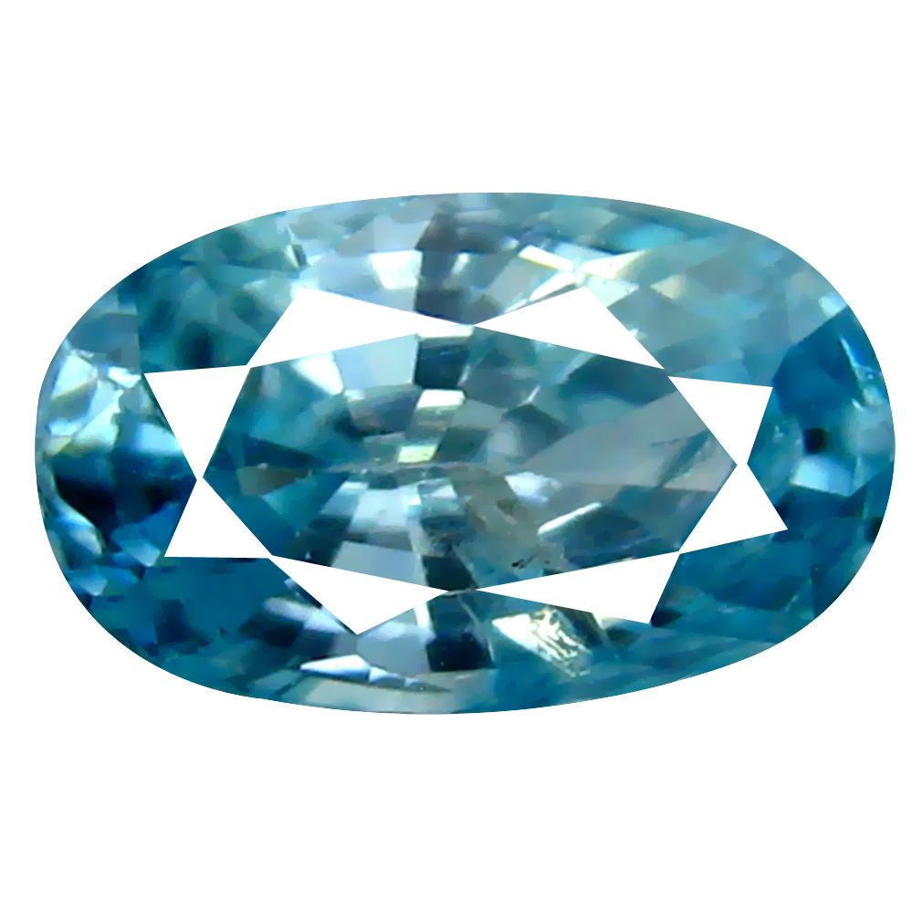 1.90 ct Exquisite Oval Cut (9 x 5 mm) Cambodian Blue Zircon Natural Loose Gemstone