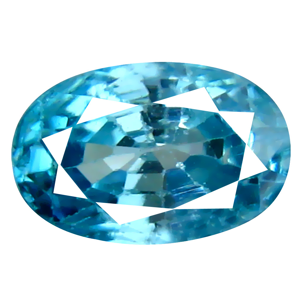 1.81 ct Terrific Oval Cut (8 x 5 mm) Cambodian Blue Zircon Natural Loose Gemstone