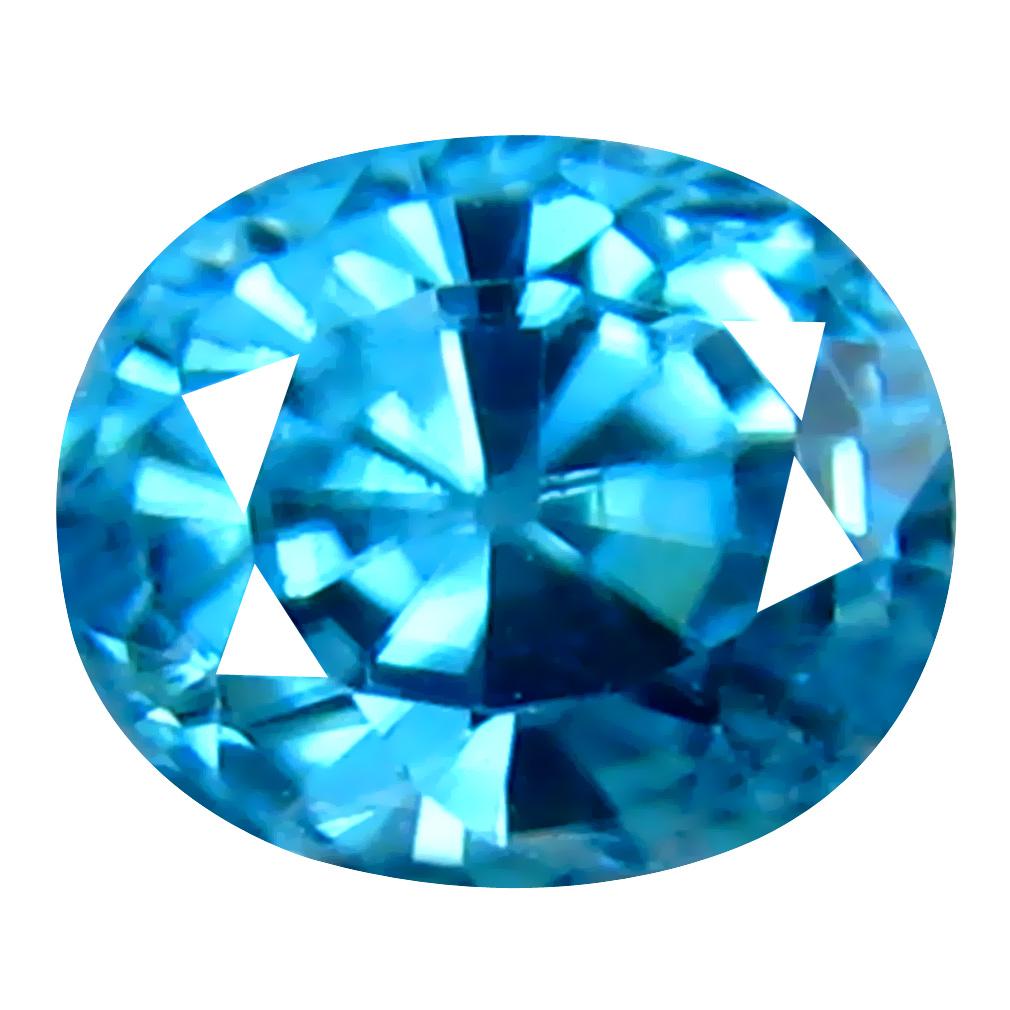 0.96 ct Valuable Oval Cut (5 x 4 mm) Cambodian Blue Zircon Natural Loose Gemstone