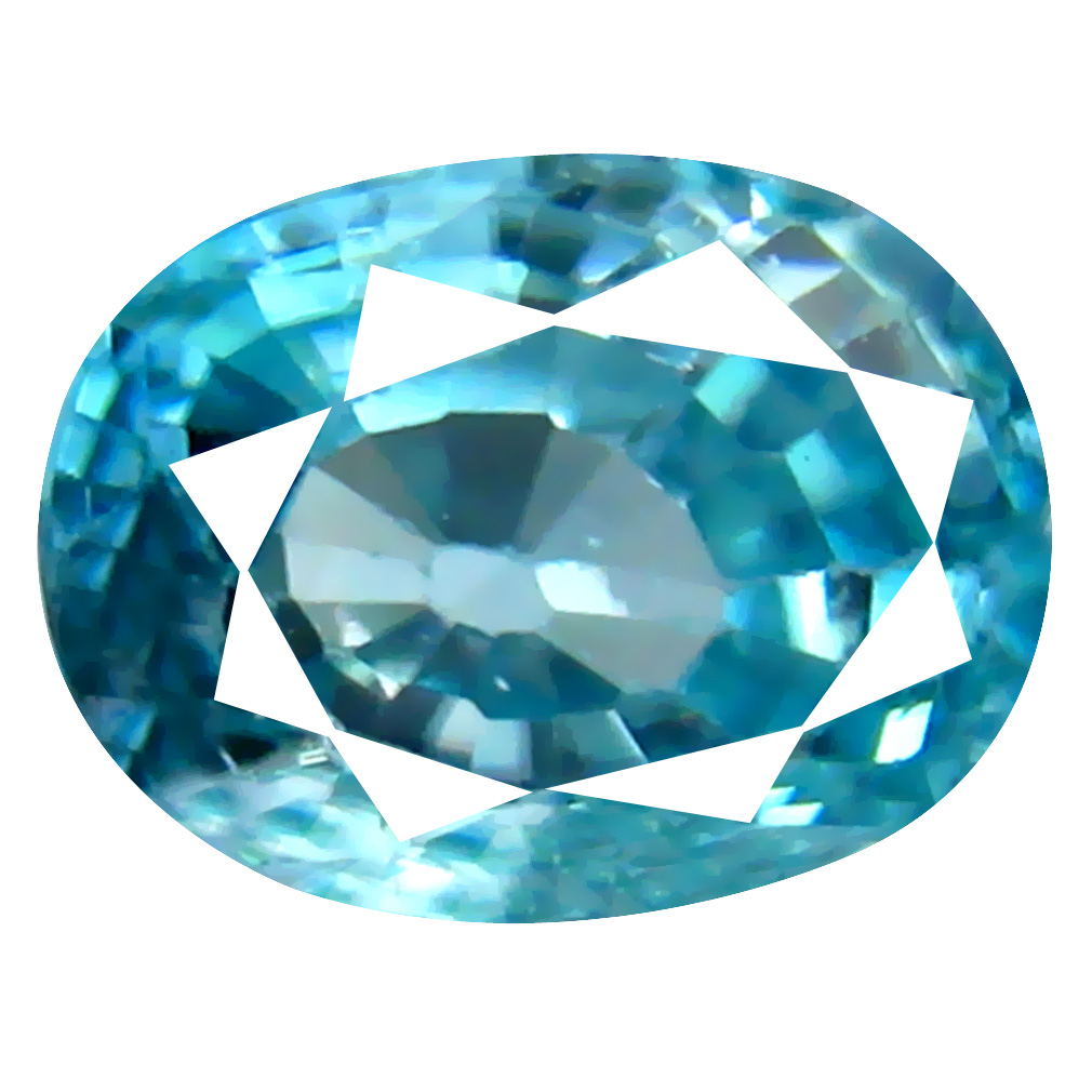 2.54 ct Astonishing Oval Cut (8 x 6 mm) Cambodian Blue Zircon Natural Loose Gemstone