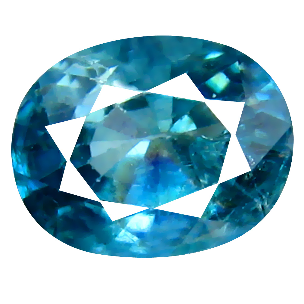 1.63 ct Lovely Oval Cut (7 x 6 mm) Cambodian Blue Zircon Natural Loose Gemstone
