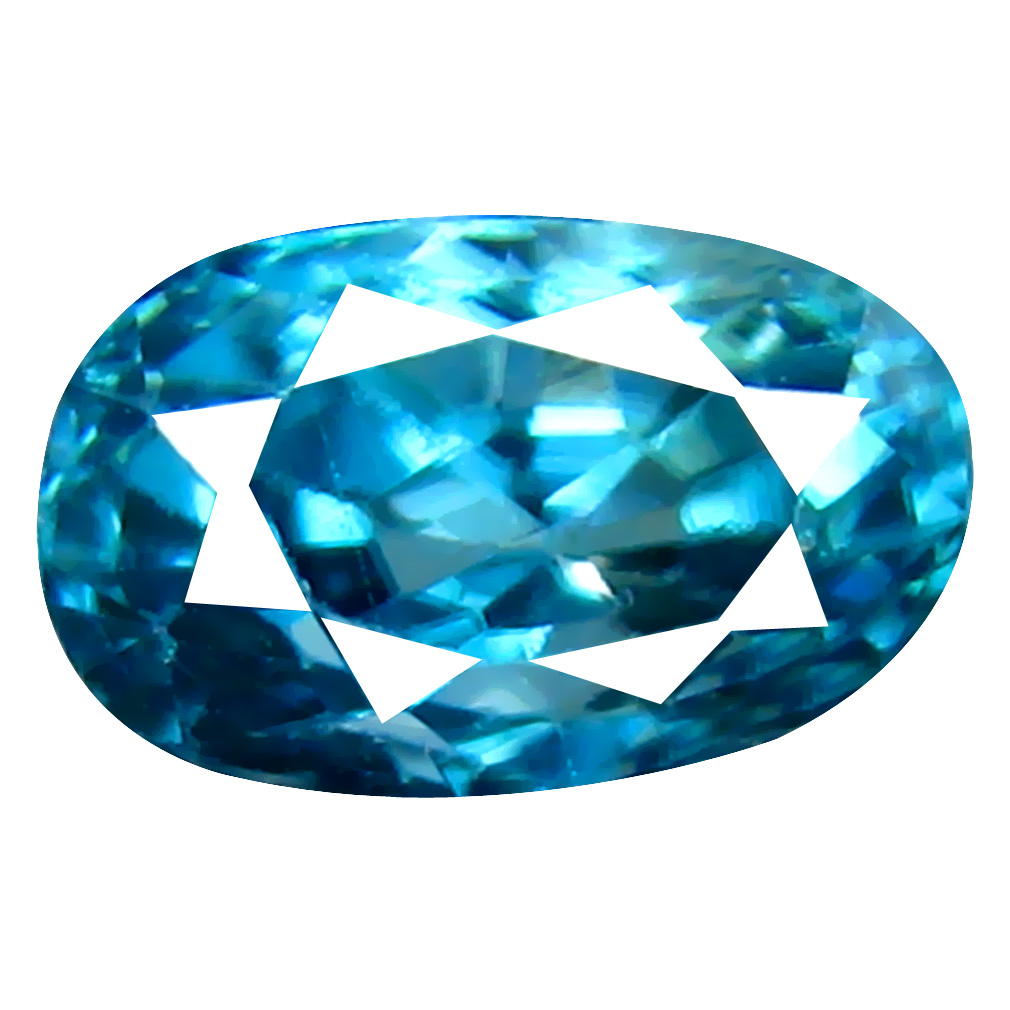 1.41 ct First-class Oval Cut (7 x 4 mm) Cambodian Blue Zircon Natural Loose Gemstone